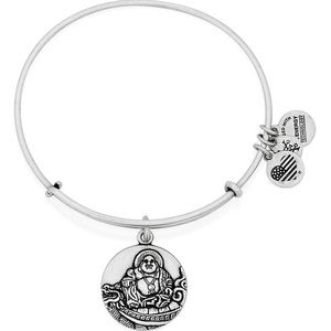 Alex and Ani Silver Laughing Buddha Bracelet
